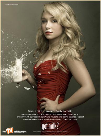 hayden panettiere got milk ad